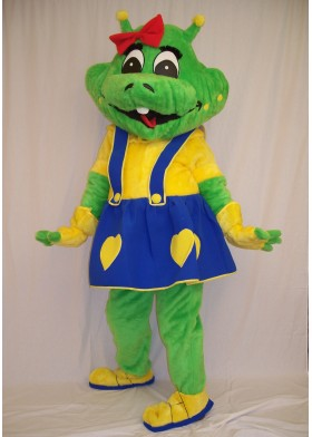 Space Alien Girl Mascot Costume