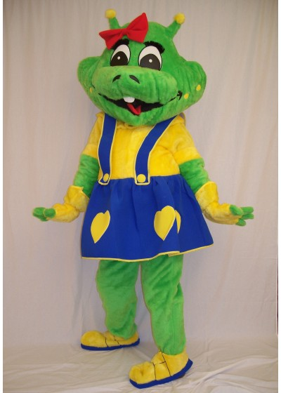 Space Alien Girl Mascot Costume