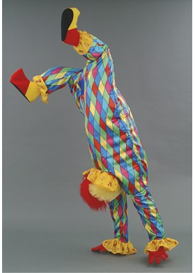 Upside down Clown illusion Mascot Costume