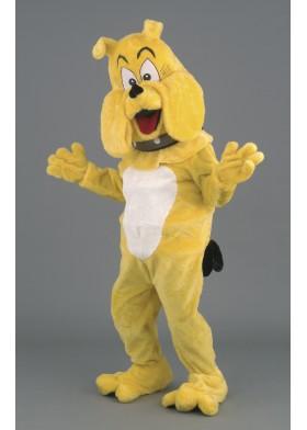 Big Yellow Bulldog Mascot Costume