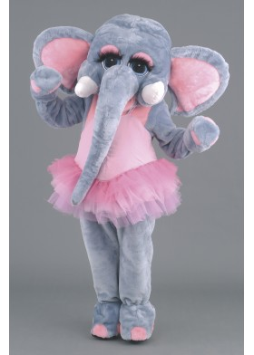 Ballerina Elephant Mascot Costume