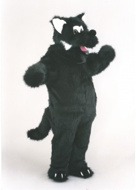 Big Black Wolf Mascot Costume