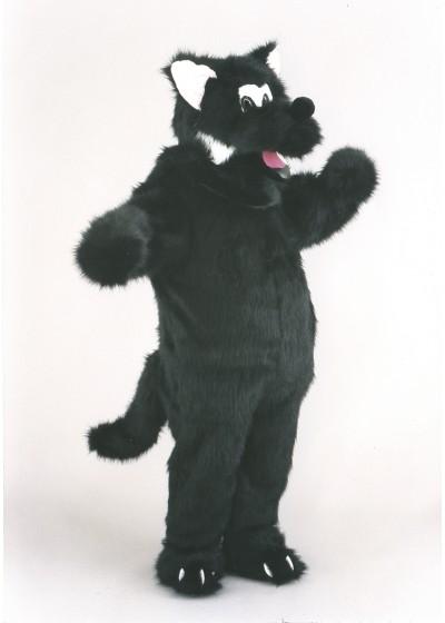 Big Black Wolf Mascot Costume