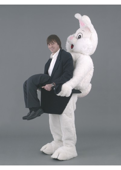 Rabbit Ride on illusion Mascot Costume
