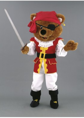 Pirate Bear Mascot Costume