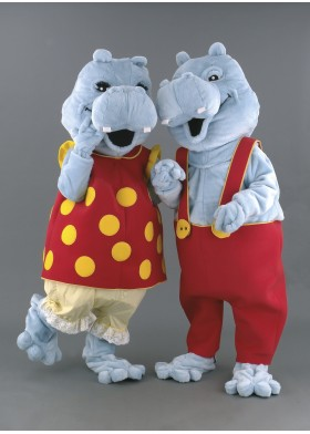 Mr & Mrs Hippo Mascot Costumes