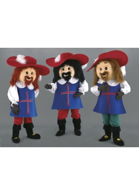 Three Musketeers Mascot costumes