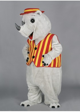 Rossy the Rhino Mascot Costume
