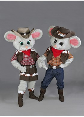 Cowboy Mice Mascot Costumes
