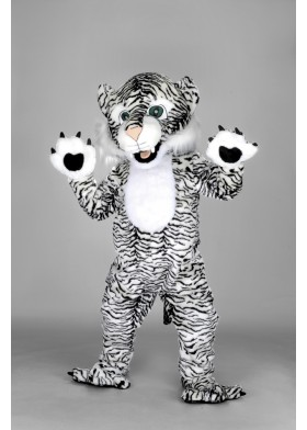 Black White Tiger Mascot Costume