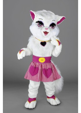 Girl Cat Mascot Costume
