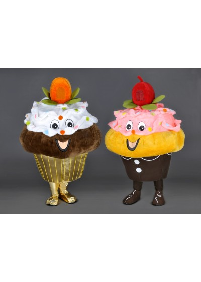 Cupcake Mascot Costume