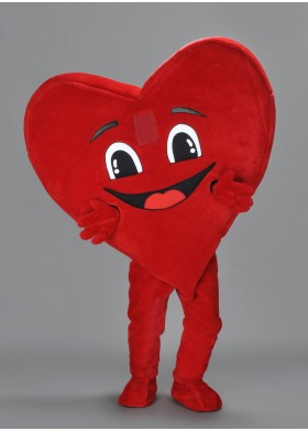 Happy Heart Mascot Costume
