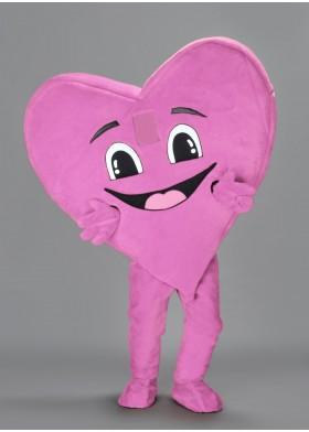 Pinky Heart Mascot Costume