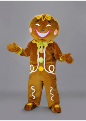 Gingerbread Biscuit Mascot Costume