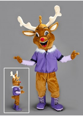 Smiley Reindeer Mascot Costume