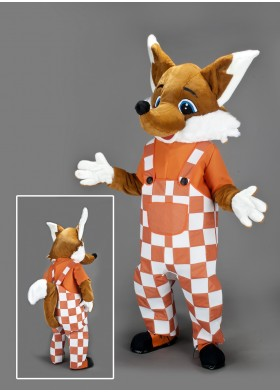 Friendly Fox Mascot Costume