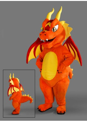 Fiery Dragon Mascot Costume