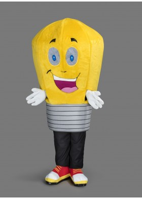 Lightbulb Mascot Costume