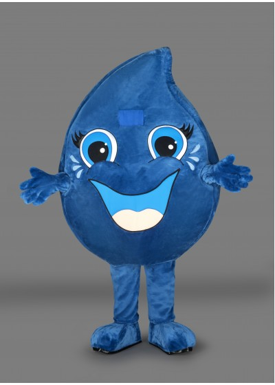 Water Droplet Mascot Costume