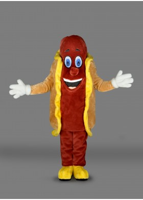 Hot Dog Mascot Costume