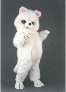 White Cat Mascot Costume