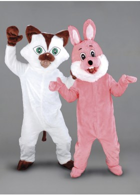 Cat and Bunny Mascot Costume