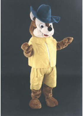 Explorer Chipmunk Mascot Costume