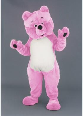 Pink Teddy Mascot costume