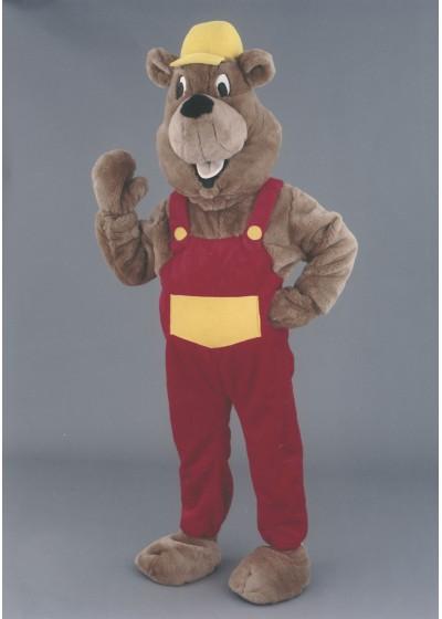 Builder Beaver Mascot Costume