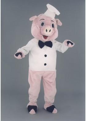 Pig Chef Mascot Costume