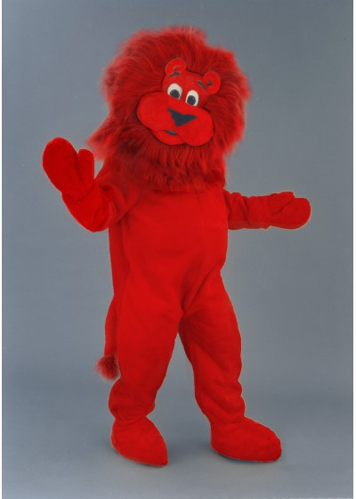 Red Lion Mascot Costume