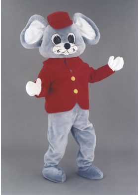 Bellboy Mouse Mascot Costume