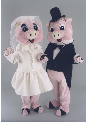 Mr & Mrs Pig Mascot Costume