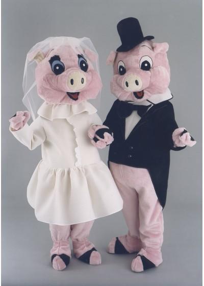 Mr & Mrs Pig Mascot Costume