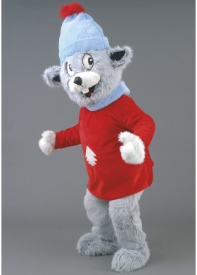 Winter Mouse Mascot Costume