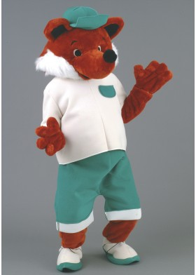 Sporty Fox Mascot Costume