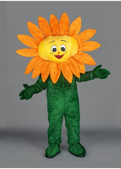 Sammy Sunflower Flower Mascot Costume