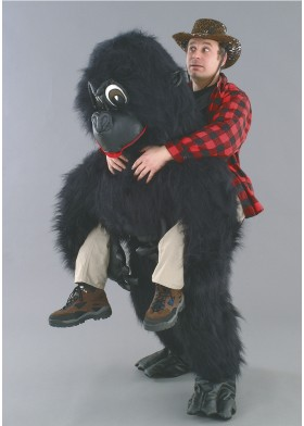 Gorilla Ride on illusion Mascot Costume