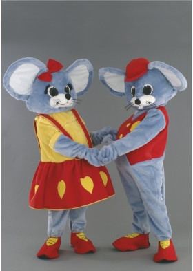 Mr & Mrs Mouse Mascot Costumes