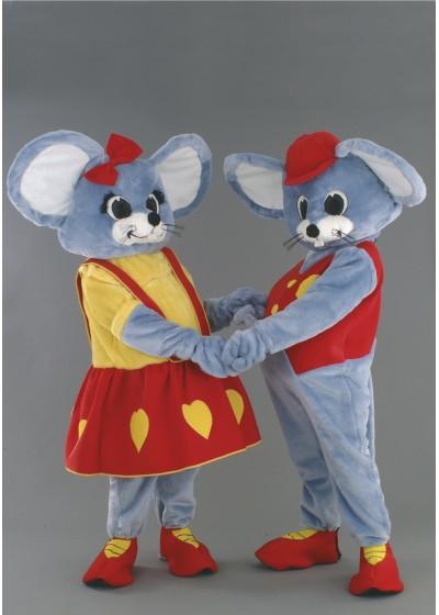 Mr & Mrs Mouse Mascot Costumes