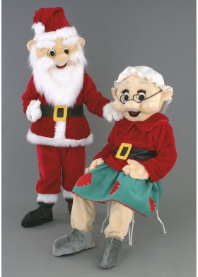 Mr & Mrs Santa Claus Mascot Costumes