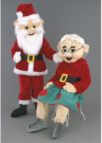Mr & Mrs Santa Claus Mascot Costumes