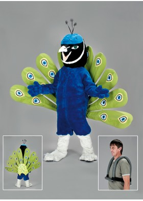 Peacock bird Mascot Costume