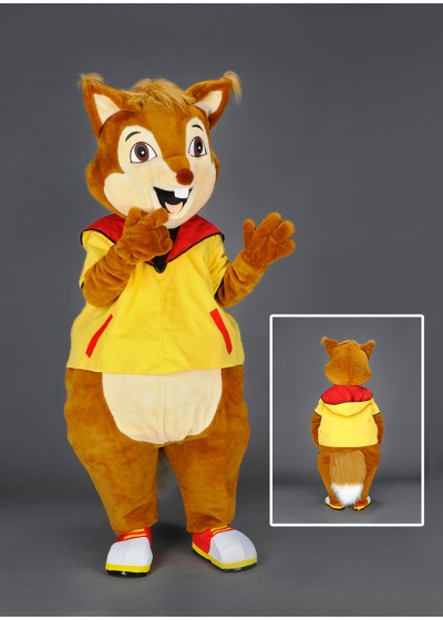 Ash the Squirrel  Mascot Costume
