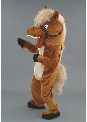 Laughing Horse Mascot Costume