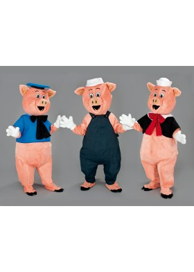Three Little Pigs Mascot Costume