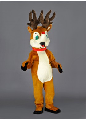 Rudolf Reindeer Mascot Costume
