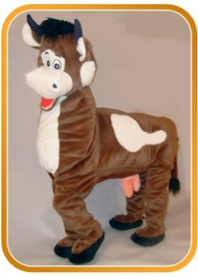 Panto Cow 2 person Mascot Costume